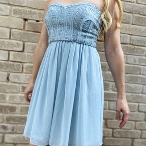 BCBG Max Azria Light Crystal Blue Dress Size 2 NWT